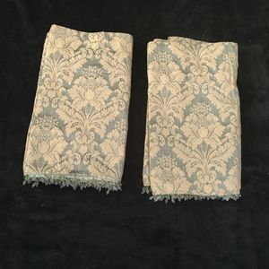 Set of 2 Green and Gold Valances